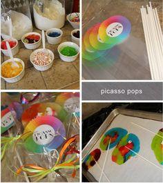 art parti, lollipop, friend