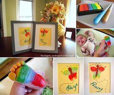 Baby foot prints - art!