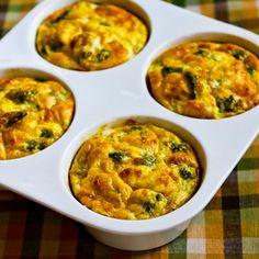 Mini-frittatas w/ broccoli & 3 cheeses