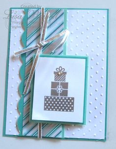 Stampin' Up! Wishing Well NEW set in the holiday catalog.  one of my favorite sets! For a list of products used, swing by my blog! Made by Lisa Bowell-Stampin' Up! Demonstrator @ lisastamps.com