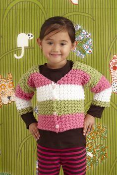 Nine Lives Children's Crochet Sweater, worked in 1 piece live sweater, sweater patterns, kid sweater, free crochet baby sweater, crochet sweaters, knitcrochet wee, babi, crochet patterns, lion brand