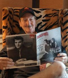 Since 1957, James Burton's distinctive guitar-playing with various artists on numerous recordings over the decades has played a major, influential role. When Elvis Presley assembled his TCB (Taking Care of Business) Band for his legendary return to live performing in 1969, James Burton was the first musician whom Elvis approached. Burton continued to perform and record with Presley for the rest of Elvis' life. 8/21/13 Happy 74th birthday.
