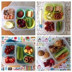 TONS of back-to-school @EasyLunchboxes lunch ideas via bentoliciouso - Instagram