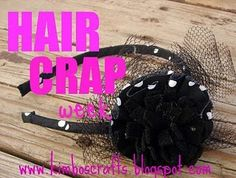 hair bow crafts link up