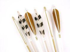 Metallic arrows make a striking display.