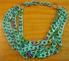 collar cadenas turquesas