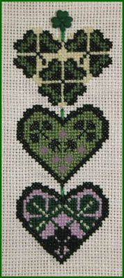 Shamrock cross-stitch.