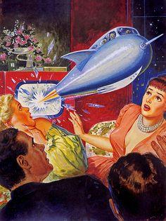 1952 Vintage Future - Retro Futurism - Vintage Sci Fi  - Atomic Age - Space Age