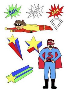 This download contains 9 superhero-themed clip art images for personal and commercial use.  You can use them in your classroom or to dress up your ...