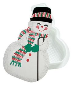Snowman Shaped Candy Gift Box
