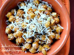 Mostly Food and Crafts: Garlic + Parmesan Roasted Chickpeas