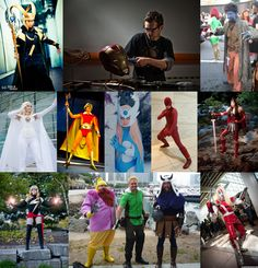 We bring you a splattering of cosplay from all over Marvel!    Angelus as Loki (Photo by JasonElpheuswong), Bartłomiej as Tony Stark (Photo by DoleczekFoto), Christi as Nightcrawler, Lauren as Emma (Photo by ) Ted as Warlock, Gina as Songbird (Photo by Julia G.), Rick as Daredevil, Kelsey as Sif (Fashion by God Saves the Queen Fashions, Photo by Brian Humphrey), Meryle as Ms. Marvel (Photo by Foques Photo),  Josh, Kart and T as Warriors Three, & Ian as Omega Red (Photo by Eleventh Photography)
