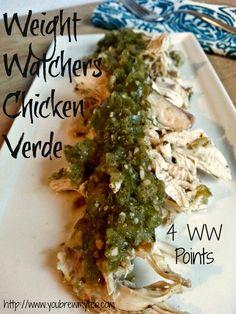 Weight Watchers Crock Pot Chicken Verde - You Brew My Tea