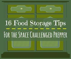 Storing emergency food often requires a bit of creativity. How about placing shelving under stairs, in the laundry room, in the closet, in various kitchen nooks and crannies, and under the bed and sofa?  Here are 16 Food Storage Tips for the Space Challenged Prepper | Backdoor Survival