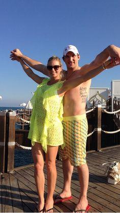 Ovechkin and Kirilenko on vacation