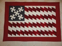 flag wall hanging quilt by jeank from the quiltingboard.com