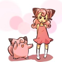 Clefairy and trainer