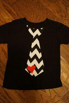 Valentines Day Chevron Tie Shirt!!  LOVE!