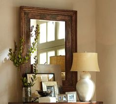 Santorini Painted Mirror #potterybarn