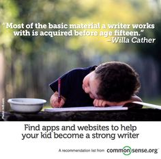 Apps and websites to help your kid become a stronger writer.