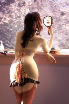 Summertime Cinching: Tips for Wearing Corsets in Warmer Weather | The Lingerie Addict | Lingerie For Who You Are Vintage Lingerie, Lace Embrace, Laceup Girdles, Lace Up, Corsets Bustiers, Sex Lust, Corsets Girdles, Style Corsets, Wear Corsets