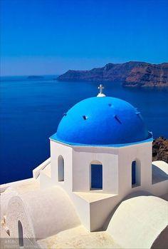 Greece。Aegean Sea。Santorin Island。