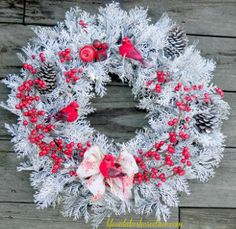 Isn't this Red Berry Winter Wreath just stunning? You can make it in an evening, and for under $10. How great is that?
