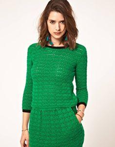 ASOS crochet shell top