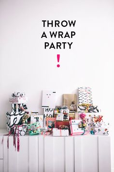 wrapping paper party - love this idea for the holidays