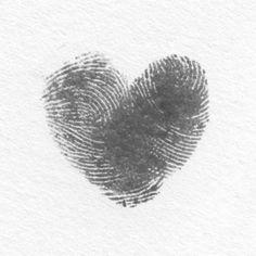 heart from 2 fingerprints