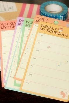 Kawaii Sticky Memo Set - Weekly My Schedule