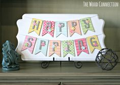 "The Wood Connection ""Happy Spring"" banner class taught by The Happy Scraps"