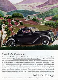 1936 Ford V-8 DeLuxe Coupe three windows (Poster)