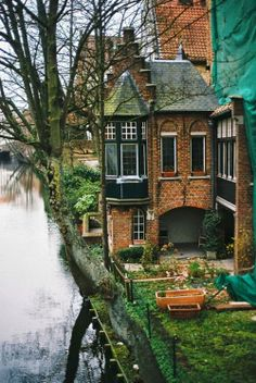 lake houses, dream homes, the edge, bruge, belgium, dream houses, place, little cottages, river