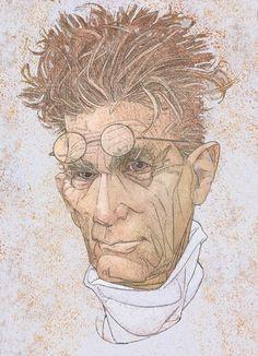 Samuel Beckett.   Illustrator David A. Johnson.  http://www.richardsolomon.com/artists/david-johnson/