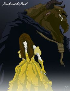 Twisted/zombie Disney Princesses and Characters- Beauty and the Beast- Belle