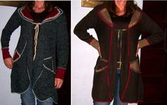 Abrigos con aplicaciones de fieltro....ideal para la playa en la noche playa en, para la, aplicacion de, la noch, con aplicacion, abrigo con, tejido primaveraverano, primaveraverano 20132014, la playa