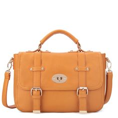 Orange Fashion Retro Messenger Handbag