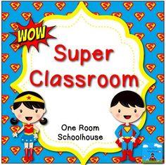 Superhero Kids Classroom Theme