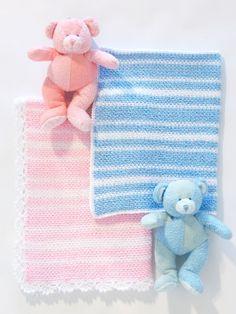 Sweet Baby Blanket | Yarn | Free Knitting Patterns | Crochet Patterns | Yarnspirations