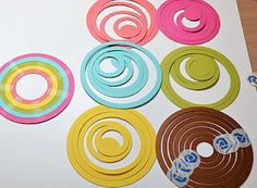 make rainbow with circle spellbinder