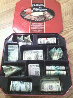 Sweet 16...BOY style....$500 bucks in a cookie tin!