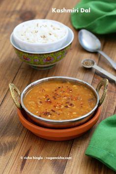 Kashmiri Dal - Split Pea & Yellow Lentil Soup with Ginger and Spices. Vegan Glutenfree Recipe   Vegan Richa