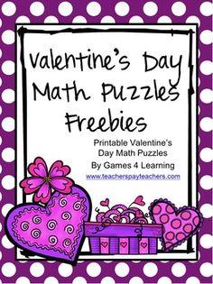 Valentine's Day Math Puzzles
