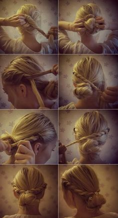 I love this braiding; it looks so effortless but elegant!