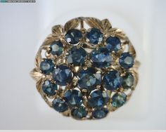 1950's Midnight Blue Sapphire & Gold by MonCoeurfinejewelry, $885.00 very unique, old, nobody has this...except princess Kate...