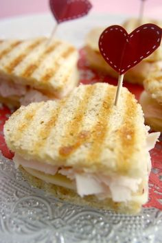 grilled heart shaped sandwiches