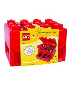 Picking up this Red LEGO Carrying Case on zulily today! Can't wait to get those Lego men organized ...