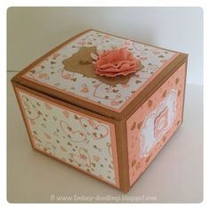 Stampin Up Kraft box, Sweetly Framed