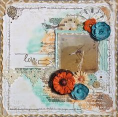 BoBunny: Using BoBunny Stamps on Scrapbook layouts. A gorgeous creation by Amy Voorthuis. @amyvoorthuis